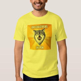 Courage Wolf Best Calculus in pen Tee Shirt