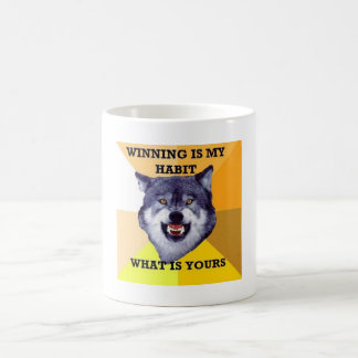 courage wolf coffee mug