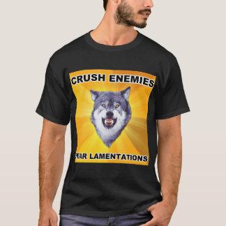 Courage Wolf Crush Enemies T-Shirt