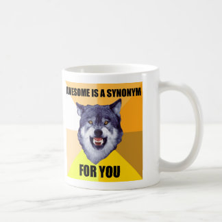 Courage Wolf Mug With Two Images