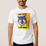 Courage Wolf Pain seize the day by the throat T Shirts