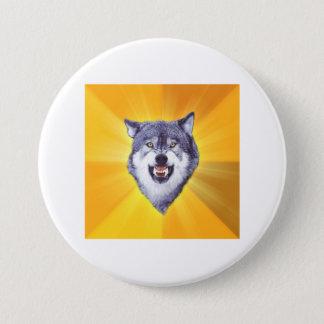 Courage Wolf Pinback Button