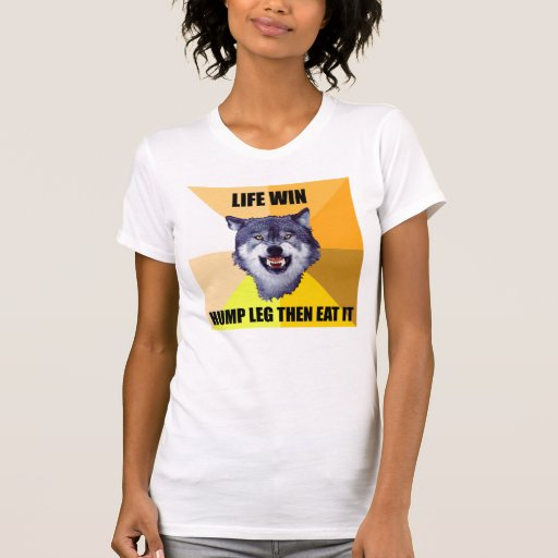 COURAGE WOLF Shirt Life Win