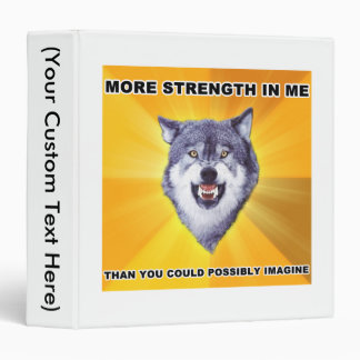 Courage Wolf Strength Binders