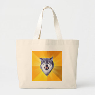 Courage Wolf Tote Bags