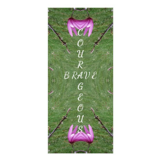 Courageous Brave Altered Magnolia Nature Symmetric Rack Card