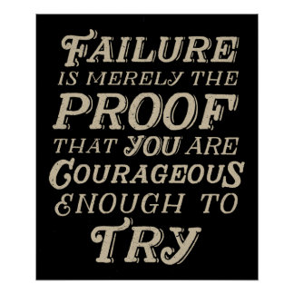 Courageous Failure Poster