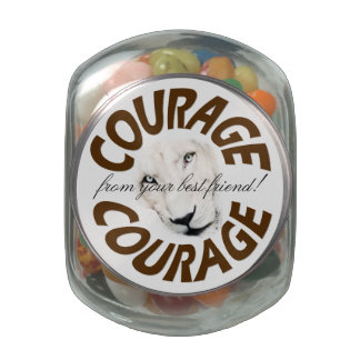 Courageous Love Glass Jars