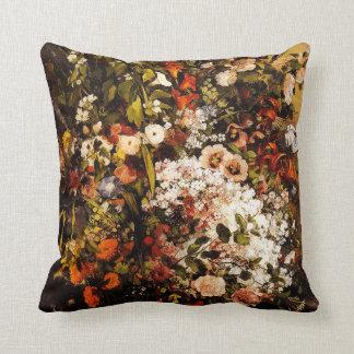 Courbet Bouquet of Flowers Pillow