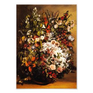 Courbet Bouquet of Flowers Print Photo Art
