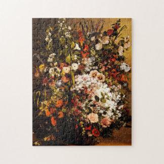 Courbet Bouquet of Flowers Puzzle