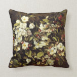 Courbet Branch of Apple Blossoms Pillow