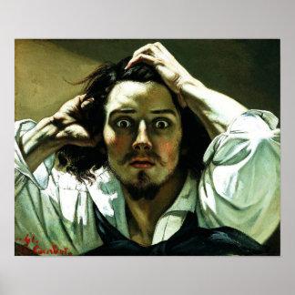 Courbet el poster desesperado del hombre póster