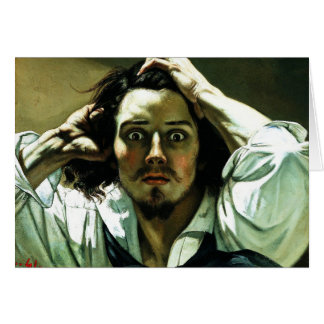 Courbet The Desperate Man Greeting Card