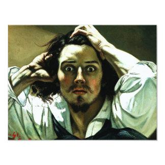 """Courbet The Desperate Man Invitations 4.25"""" X 5.5"""" Invitation Card"""