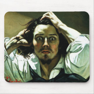 Courbet The Desperate Man Mouse Pad