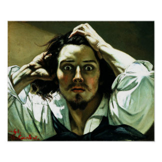Courbet The Desperate Man Poster
