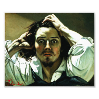 Courbet The Desperate Man Print