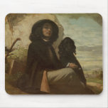 Courbet with his Black Dog, 1842 Mouse Pad