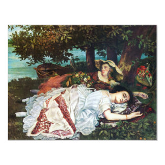 Courbet Young Ladies on the Banks of the Seine Custom Announcement