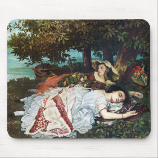 Courbet Young Ladies on the Banks of the Seine Mouse Pad