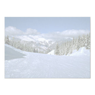 Courchevel, France, home of the Tree Valley ski ar 5x7 Paper Invitation Card