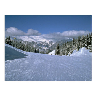 Courchevel, France, home of the Tree Valley ski ar Postcard