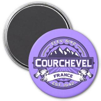 Courchevel Logo 3 Inch Round Magnet