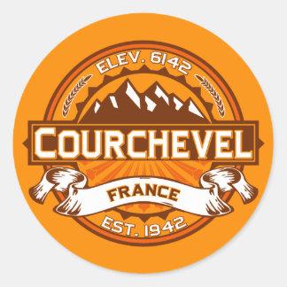 Courchevel Logo Classic Round Sticker