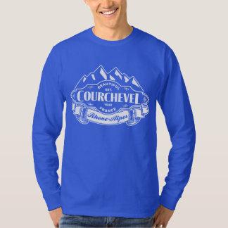 Courchevel Mountain Emblem White Tee Shirt