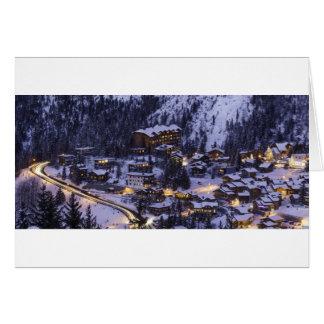 Courchevel Mountain Snow Greeting Card