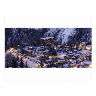 Courchevel Mountain Snow Postcard