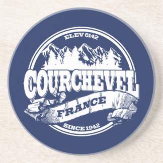 Courchevel Old Circle White Beverage Coasters