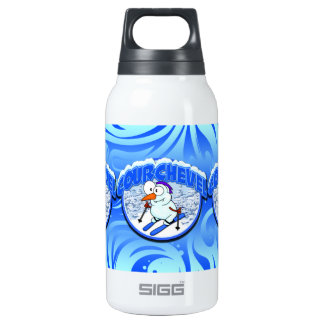 Courchevel Snowman 10 Oz Insulated SIGG Thermos Water Bottle