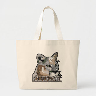 Courgar,Puma,Mountain Lion Large Tote Bag