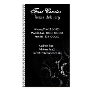 Courier Black Business Cards