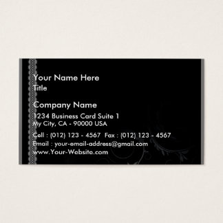 Courier Black  floral gift Business Card