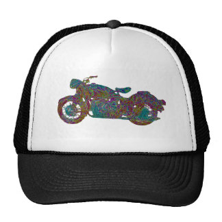 Courier Impressionist Motorcycle Trucker Hat