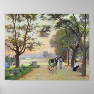 Cours-la-Reine, Paris Poster