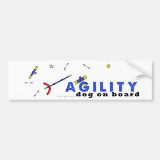 Course Agility dog on Board Car Bumper Sticker