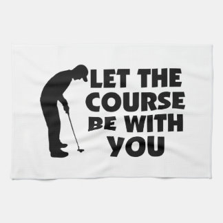 Course Be With You Golfing Hand Towel