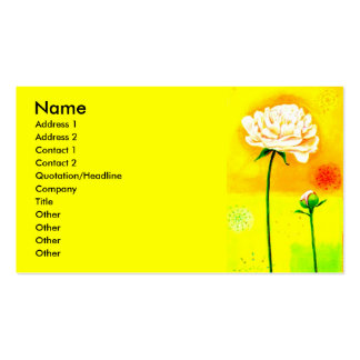 Course of Bloom Double-Sided Standard Business Cards (Pack Of 100)