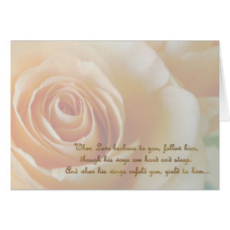 Course of Love 1 Rose Card