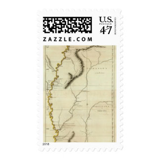 Course Of The River Mississipi Postage