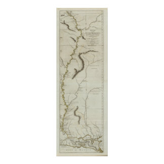 Course of the River Mississipi Print