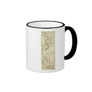 Course Of The River Mississipi Ringer Coffee Mug