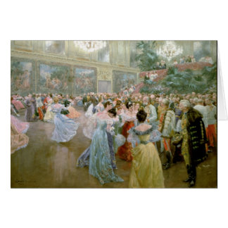 Court Ball at the Hofburg, 1900 Greeting Cards