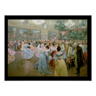 Court Ball at the Hofburg, 1900 Poster