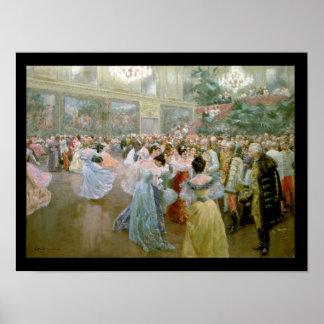 Court Ball at the Hofburg, 1900 Print