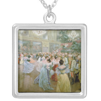 Court Ball at the Hofburg, 1900 Silver Plated Necklace
